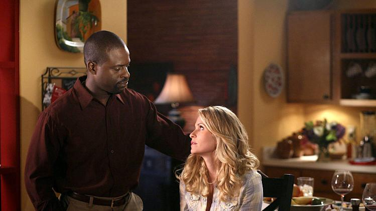 "Sterling K. Brown stars as Roland Burton and Sally Pressman stars as Roxy LeBlanc in ""Army Wives."""