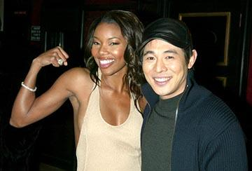 Gabrielle Union and Jet Li at the New York premiere of Warner Brothers' Cradle 2 The Grave