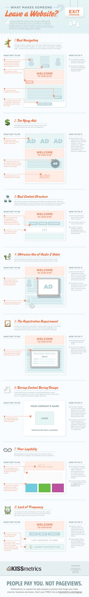 What Makes Someone Leave a Website [Infographic] image website design tips infographic