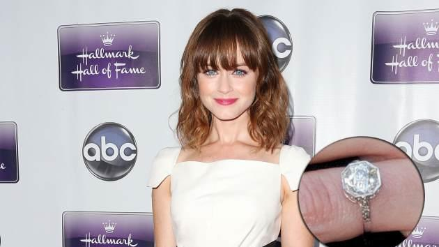 Alexis Bledel and engagement ring -- Getty Images