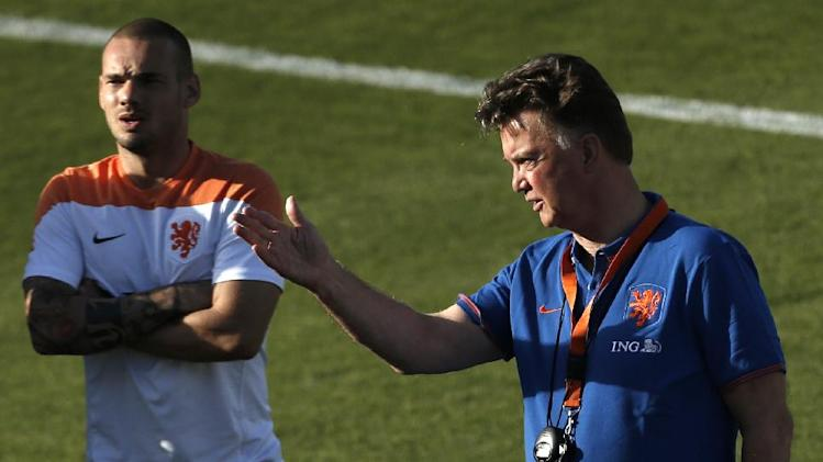 Netherlands play their semifinal match of the 2014 world cup soccer