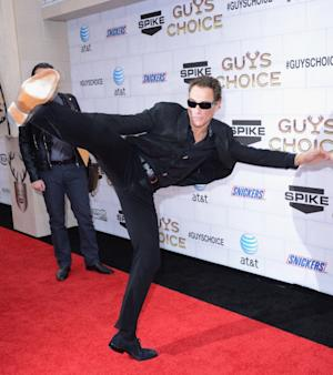 Jean-Claude Van Damme shows off his moves at Spike TV's 6th Annual 'Guys Choice' Awards at Sony Studios in Culver City, Calif., on June 2, 2012 -- FilmMagic