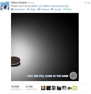 How One Brand has Changed the Social Marketing Game Forever image Oreo Tweet
