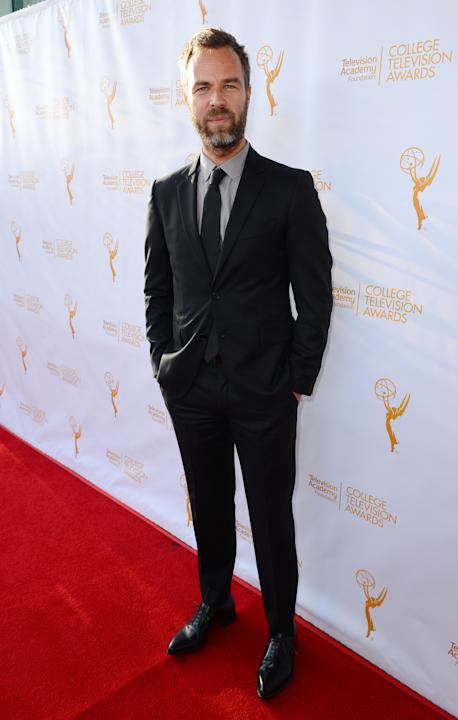 JR Bourne poses on the red carpet at the 35th College Television Awards, presented by the Television Academy Foundation at The Leonard H. Goldenson Theatre in the NoHo Arts District on Wednesday, Apri