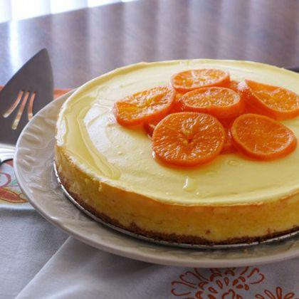 Mandarin Cheesecake with Sumo Citrus Glaze