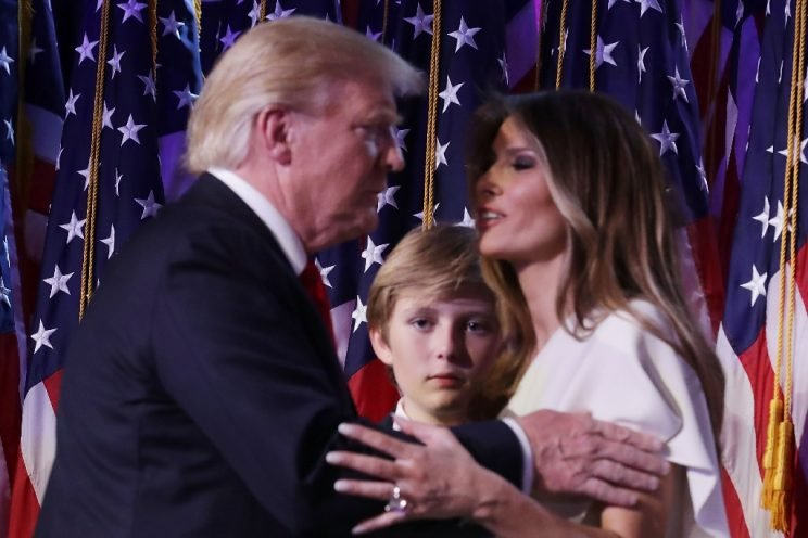 presidential race white house asks media stop reporting barron trump