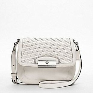 Kristin woven leather crossbody bag by Coach