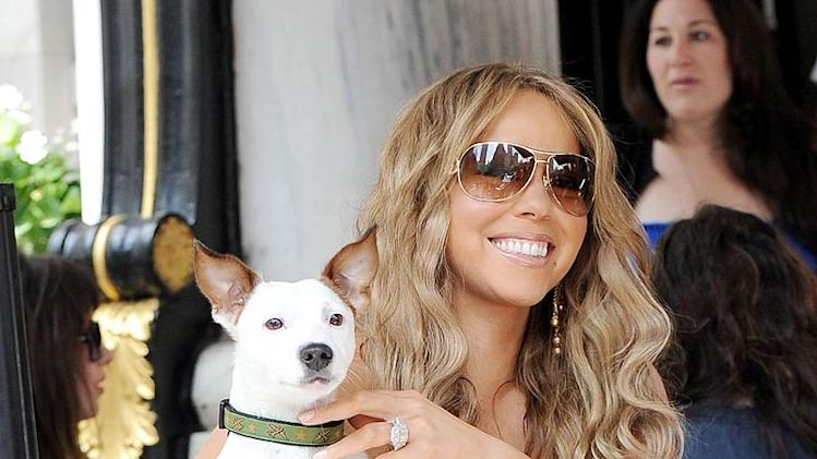 Carey Mariah With Dog