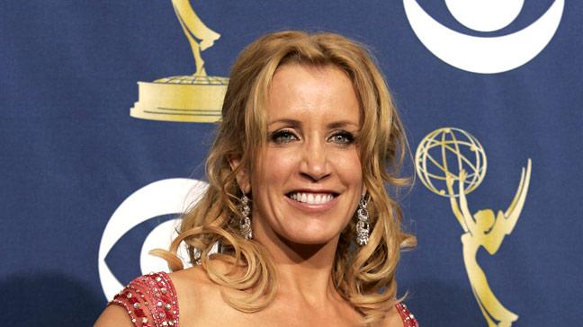 "Felicity Huffman, winner of Outstanding Lead Actress in a Comedy Series for ""Desperate Housewives"" at The 57th Annual Primetime Emmy Awards."