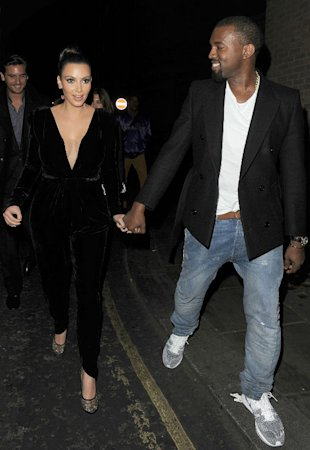 Kim Kardashian And Kanye West Run Into P.Diddy During Miami Basketball Date