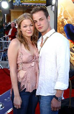 Premiere: LeAnn Rimes and hubby Dean at the LA premiere of Columbia Pictures' Spider-Man - 4/29/2002