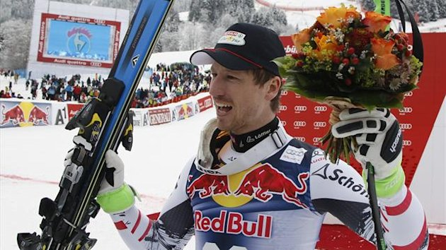 Austria's Hannes Reichelt only recently won the sport's most prestigious World Cup event (Reuters)