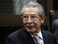 Former dictator Efrain Rios Montt attends a court hearing in Guatemala City on January 28, 2013. A judge ordered the trial of Rios Montt for genocide in the killings of more than 1,750 indigenous people during his 1982-83 regime
