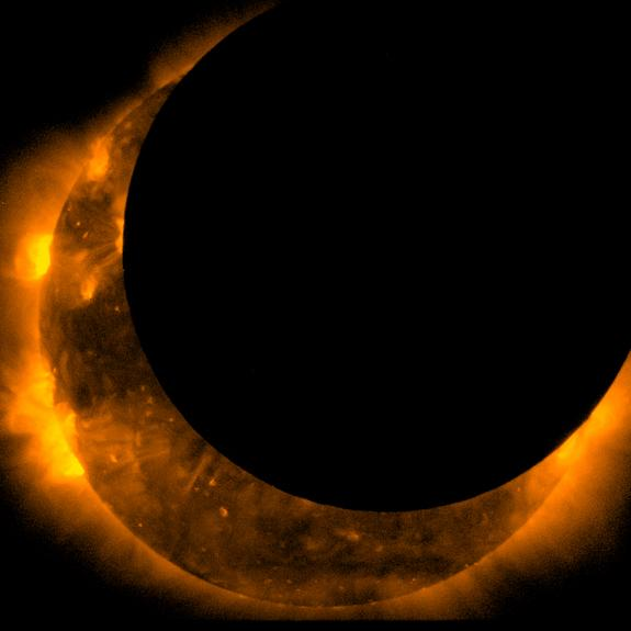 Satellites Snap Solar Eclipse Pictures From Space