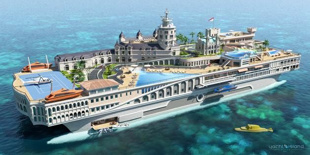 Floating islands: when a mega-yacht just won't do
