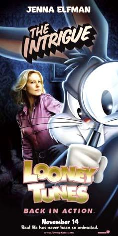 Jenna Elfman and Bugs Bunny of Warner Bros. Looney Tunes: Back in Action