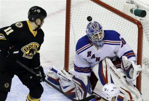 Rangers beat Bruins in SO despite blowing 3-0 lead