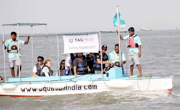 Suresh Raina at a boating event held near the Gateway of India