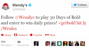 The 4 Most Effective Twitter Calls to Action image wendys twitter marketing call to action