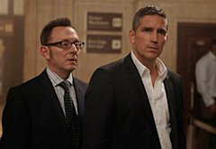 Michael Emerson, Jim Caviezel | Photo Credits: Giovanni Rufino/Warner Bros./CBS