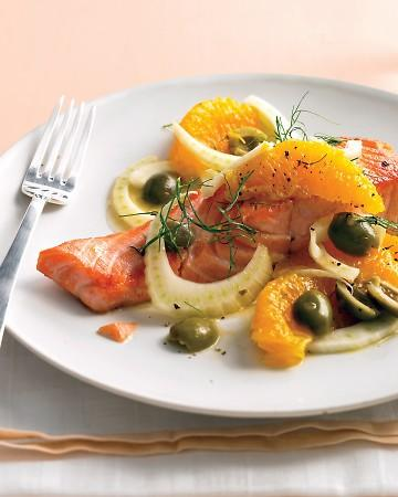 Seared Salmon with Oranges and Fennel