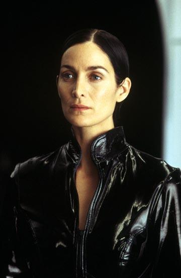 Carrie Anne Moss as Trinity in Warner Brothers' The Matrix: Revolutions