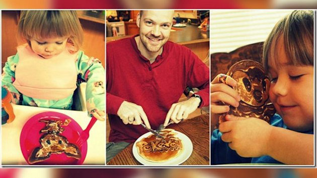 Pancake Art a Tool for Dad to Educate Kids (ABC News)