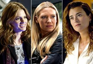 Stana Katic, Anna Torv, Cote de Pablo | Photo Credits: Ron Tom/ABC; Liane Hentscher/FOX; Cliff Lipson/CBS