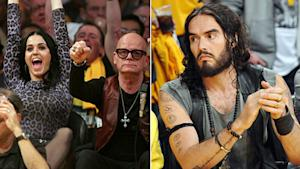 Awkward! Russell & Katy at Same Lakers Game