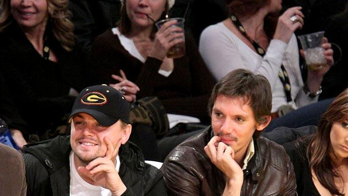 Di Caprio Haas Lakers Game