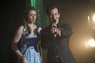 "This undated image released by HBO shows Denis O'Hare, right, with Annie Abrams in a scene from ""True Blood."" O'Hare, who had earned his first ever Emmy nod as a best supporting actor in the FX show ""American Horror Story,"" is currently on the HBO vampire series ""True Blood."" He can also be seen live thru Aug. 25, as the Baker in the musical ""Into the Woods,"" the second show of The Public Theater's 50th Anniversary season at the Delacorte Theater in Central Park. (AP Photo/HBO, John P. Johnson)"
