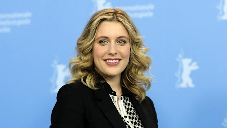 "FILE - This Feb. 14, 2013 file photo shows actress Greta Gerwig at the photo call for the film ""Frances Ha"" at the 63rd edition of the Berlinale, International Film Festival in Berlin. In ""Frances Ha,"" Gerwig plays a young woman named Frances who is trying to find her own path in life after her best friend and roommate decides to move out and in with her boyfriend. It's now playing in limited release. (AP Photo/Markus Schreiber, file)"