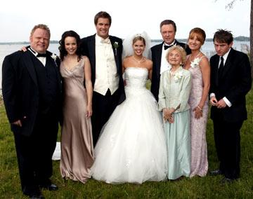 Larry Campbell , Rachel McAdams , Geoff Stults , Jennifer Alden , Christopher Walken , Ellen Albertini Dow , Jane Seymour and Keir O?Donnell in New Line Cinema's Wedding Crashers