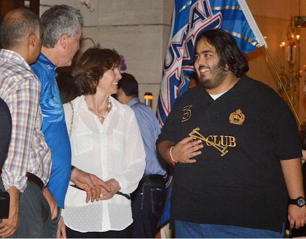 The Mumbai Indians celebrated their IPL win with a bash at team owner Mukesh and Nita Ambani's residence in Mumbai.