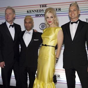 Tom Dumont, Tony Kanal, Gwen Stefani and Adrian Young of No Doubt pose for photos during the 33rd Annual Kennedy Center Honors at the Kennedy Center Hall of States in Washington, D.C. on December 5, 2010 -- Getty Images