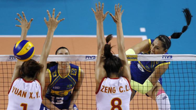 China during their fivb women's volleyball world grand prix 2014 final