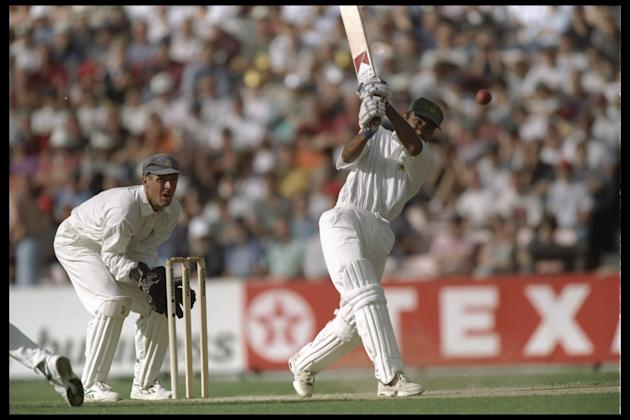 Saeed Anwar of Pakistan batting