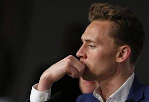 "Cast member Tom Hiddleston attends a news conference for the film ""Only Lovers Left Alive"" during the 66th Cannes Film Festival"