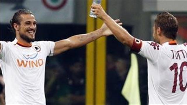 Serie A - Osvaldo snatches last gasp win for Roma at Fiorentina
