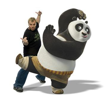 Jack Black is the voice of Po in DreamWorks Animation's Kung Fu Panda