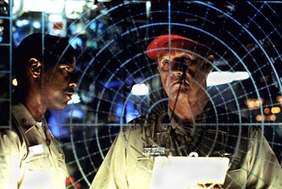 Denzel Washington and Gene Hackman in Crimson Tide
