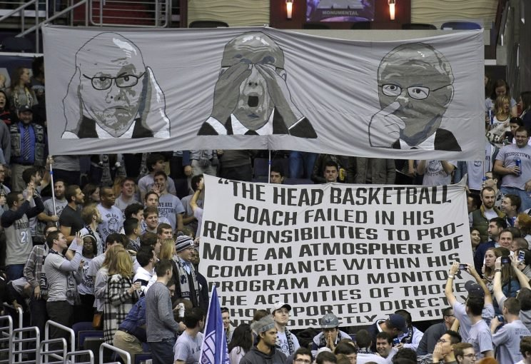 Georgetown fans unveil a tifo before last year's Syracuse game (AP)
