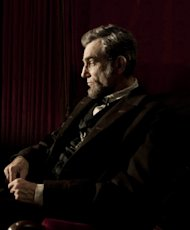 Daniel Day-Lewis pictured here as Abraham Lincoln for his role in Steven Spielberg's new film 'Lincoln' -- Disney
