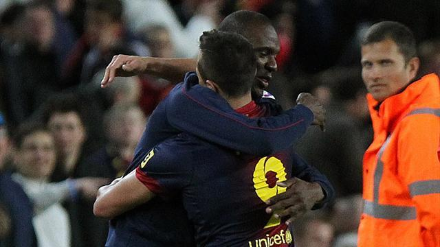 Liga - Abidal makes emotional return for Barcelona