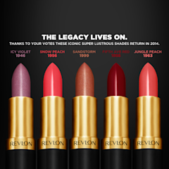 Revlons re-launched vintage iconic lipsticks