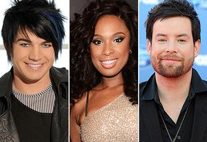 Adam Lambert, Jennifer Hudson and David Cook | Photo Credits: Michael Becker / FOX; Kevin Mazur/WireImage; Frazer Harrison/Getty Images