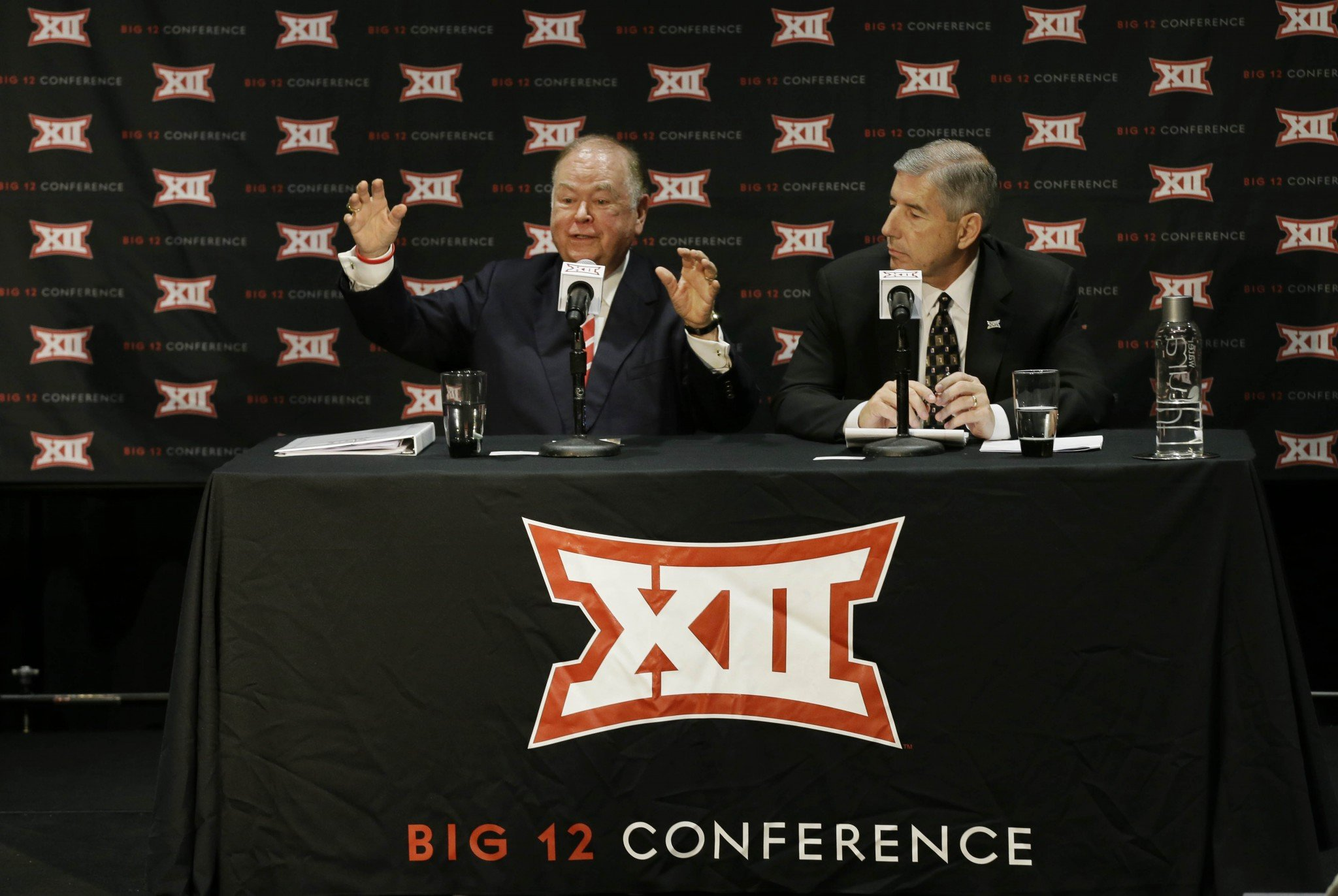 A photo sometimes says it all, and this was did as the Big 12 Conference announced it would not expand. (AP)