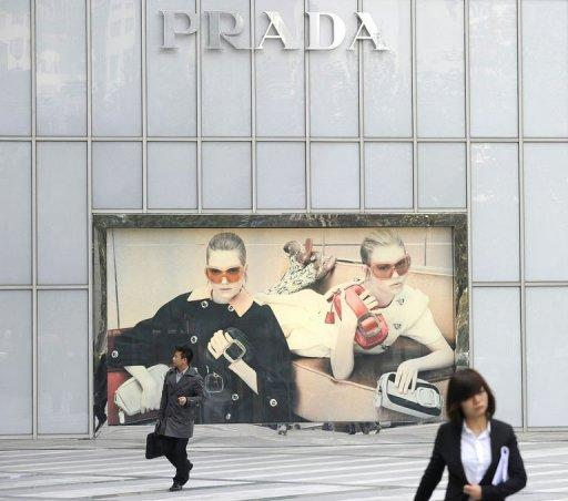 Italian fashion group Prada said Monday that 2012 first-half sales leapt by a provisional 36.5 percent