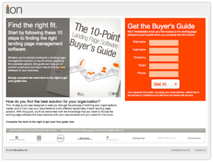 The Low Down on Low Funnel Keyword Landing Page Templates image ion buyersguide