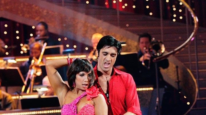 "Gilles Marini and Cheryl Burke perform the Samba to ""El Matador"" by Los Fabulosos Cadillacs on ""Dancing with the Stars."""